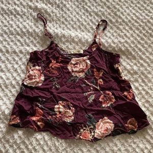 Adorable floral cropped tank top. Size xs